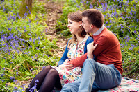 Bluebell Wood Engagement Photography